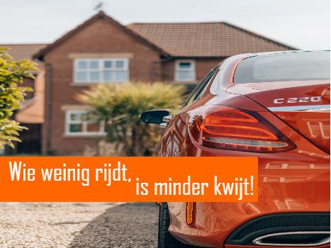 Kilometerverzekering Wie weinig rijdt is minder kwijt!